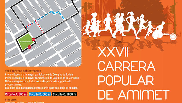 Tudela acoge este domingo la Carrera Popular AMIMET