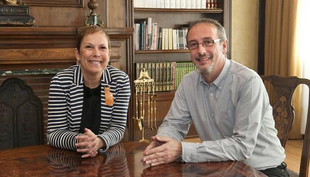 Barkos aborda con el alcalde de Tafalla el futuro de la Zona Media