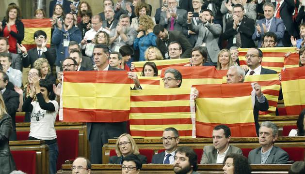 Según el Parlament la desconexión con España tiene las horas contadas