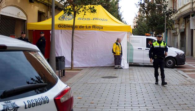 El suceso se ha producido en el número 7 de la calle María Teresa Gil de Gárate de Logroño.
