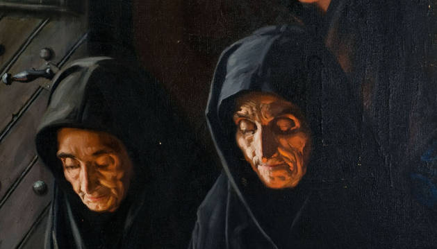 Detalle de 'El Viático' de Javier Ciga.