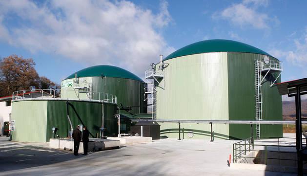 Aspecto parcial de las instalaciones de biogás en Iraizotz, inaugurada hace cinco años.
