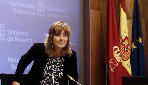 La consejera de Relaciones Ciudadanas e Institucionales y portavoz del Gobierno, Ana Ollo.