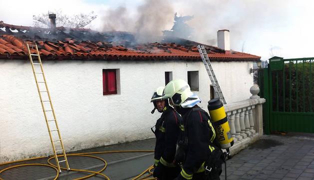Incendio en Noáin