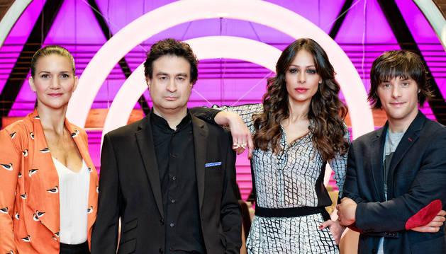 Samantha Vallejo-Nágera, Pepe Rodríguez, Eva González y Jordi Cruz.