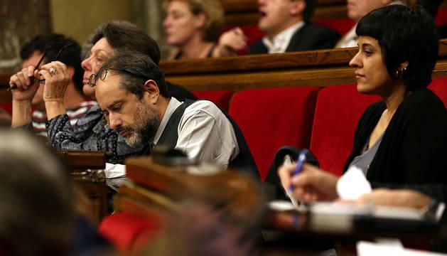 Diputados de la CUP en el Parlament.