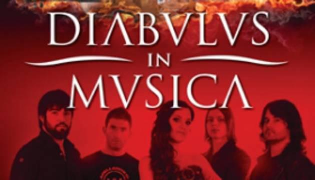 Cartel del concierto de Diabulus In Musica.