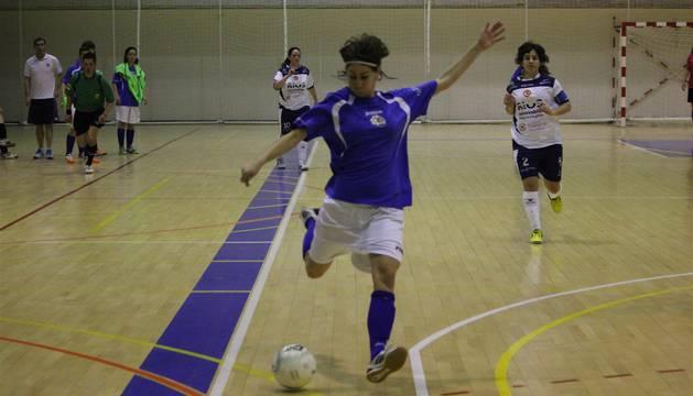 Ane Cabasés, jugadora del Txantrea de Segunda División de fútbol sala femenino.