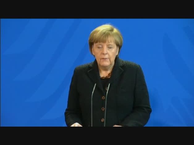 """Merkel asegura que la respuesta a los ataques de París será """"conjunta"""""""