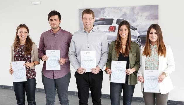 VW premia a un estudiante de la UPNA por su trabajo de fin de carrera