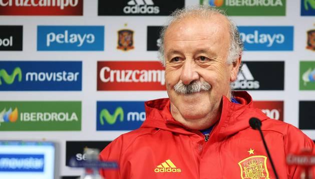 El seleccionador Vicente Del Bosque.