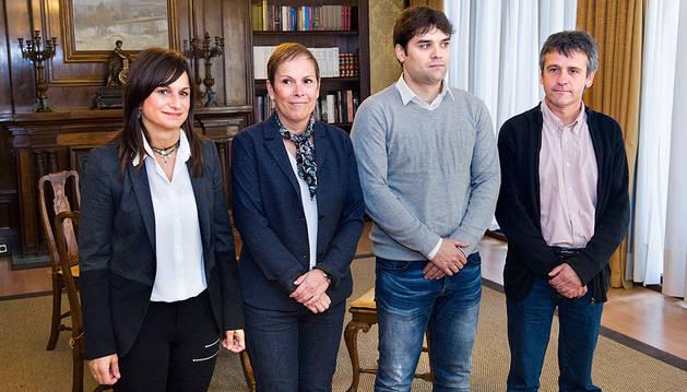 Garbayo, Barkos, Azcona y Pérez.