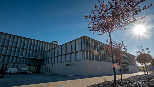 Una imagen tomada en el centro tecnológico de Estella que acoge en su ala derecha el vivero reservado a empresas de nueva creación.