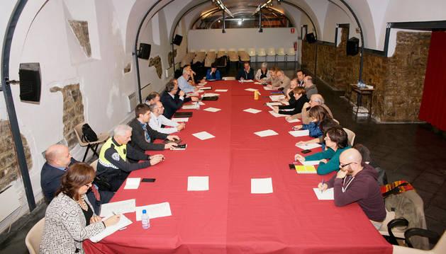 Reunión de la Mesa del Casco Antiguo celebrada el pasado martes.