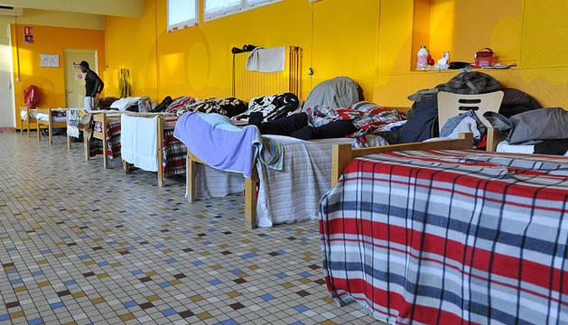 Centro de acogida en Calais.