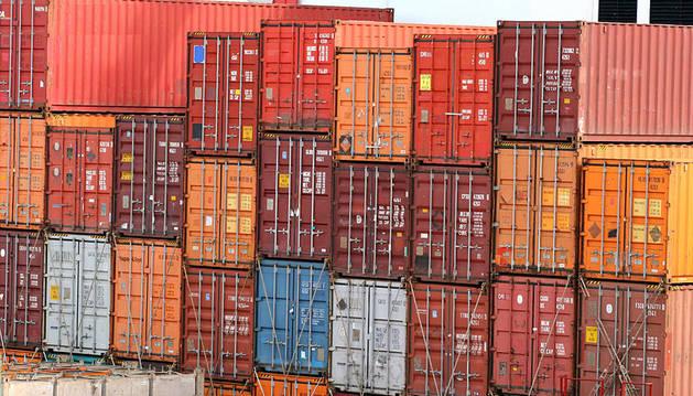 Contenedores de mercancías.