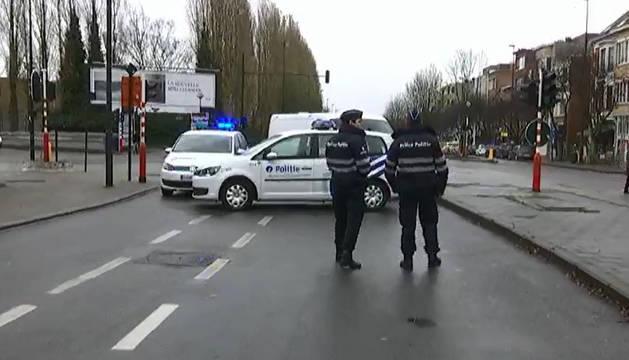 Nueve detenidos en una operación en el barrio de Laeken, Bruselas
