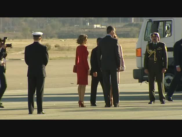 Los reyes Felipe y Letiia reciben a los reyes de Jordania