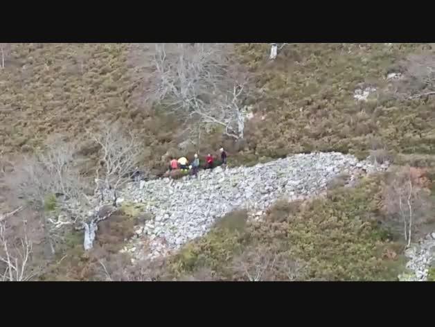 Rescate en Erratzu (imágenes de helicóptero)