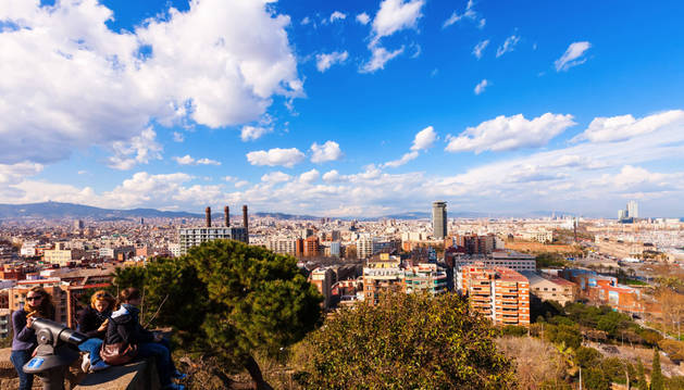 Vista aérea del centro de Barcelona.
