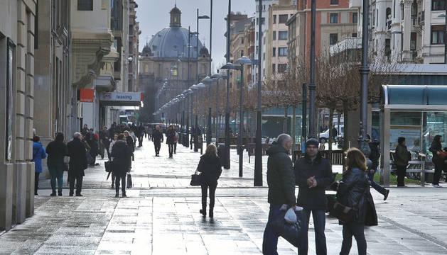 Carlos III, una de las vías comerciales más importantes de Pamplona
