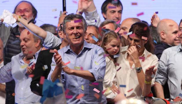 El líder del frente opositor Cambiemos, Mauricio Macri.