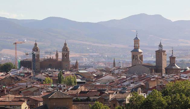 Vista del Casco Antiguo de Pamplona.