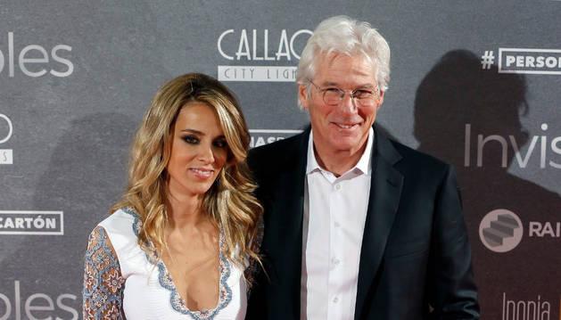 El actor estadounidense Richard Gere, acompañado de su pareja, la española Alejandra Silva.