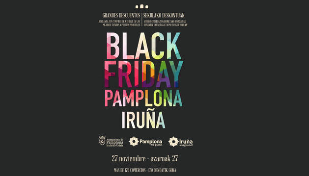 Cartel del 'Black Friday Pamplona'.