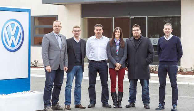 Cord Busche, Antonio Costa, Roberto Martínez, Ana Monreal, Miguel Ángel Llorente y Jon Navarlaz participantes en el proyecto