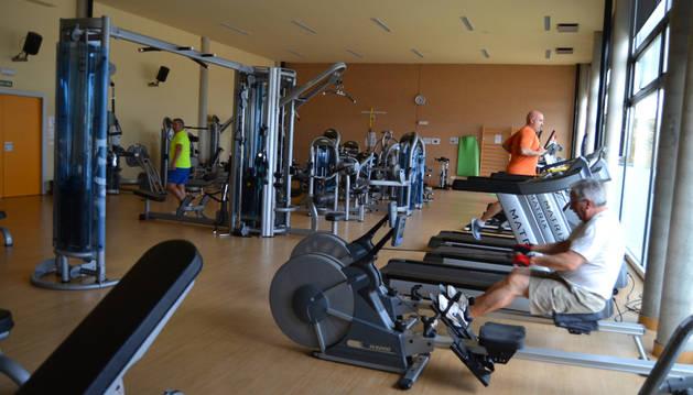 Imagen del interior del gimnasio que abrió durante todo el día.