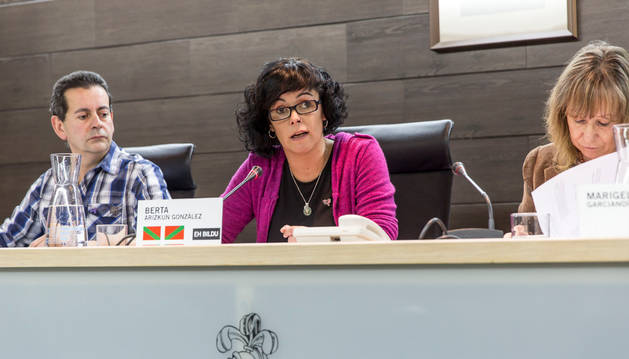 Berta Arizkun (Bildu) sustituyó ayer en el pleno al alcalde.