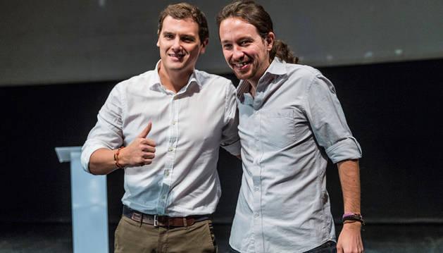 Rivera e Iglesias apelan a una segunda transición en un debate sin PP ni PSOE