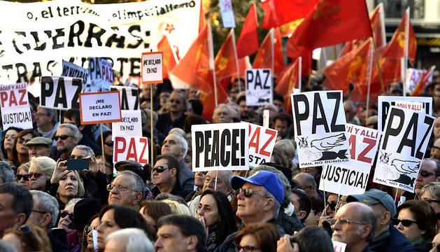 Un momento de la marcha desarrollada este sábado en Madrid.