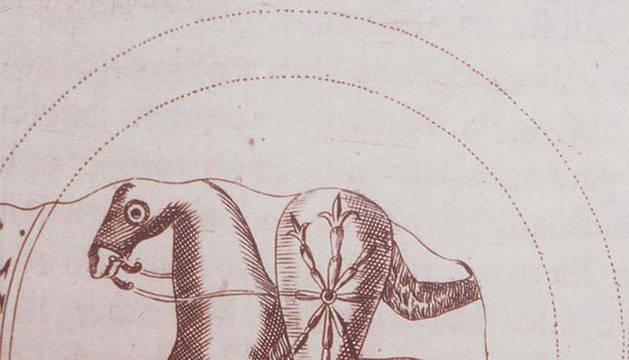Sello de Sancho el Sabio (siglo XII) con un escudo cruciforme.