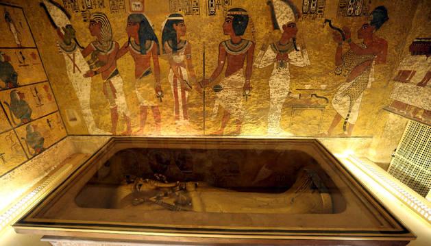 Sarcófago del faraón Tutankamón.