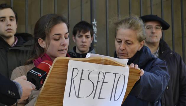 La plataforma 'Respeto por Navarra' en en comunicado el pasado viernes.