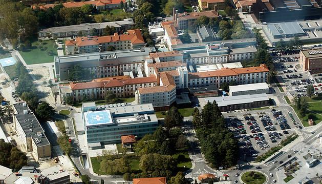 Vista del Complejo Hospitalario de Navarra.