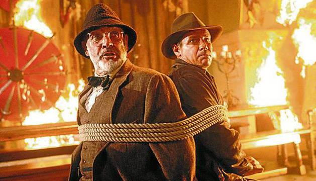 Connery y Ford, en 'Indiana Jones y la última cruzada'.