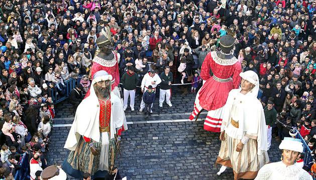 Actos de celebración de San Saturnino en Pamplona.