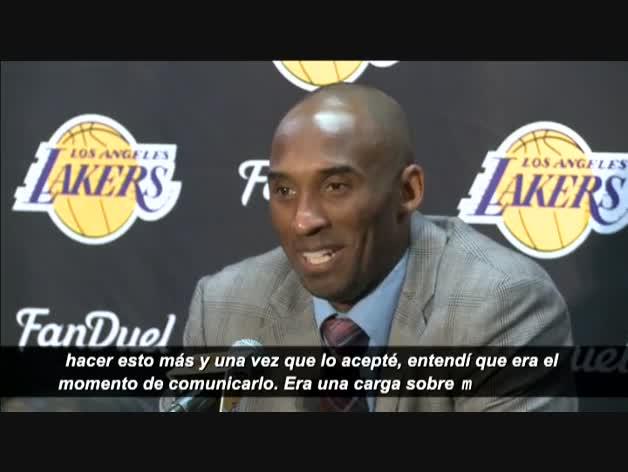 Kobe Bryant confirma su adiós al final de temporada