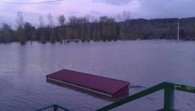 Aspecto de El Sotico tras la inundación.