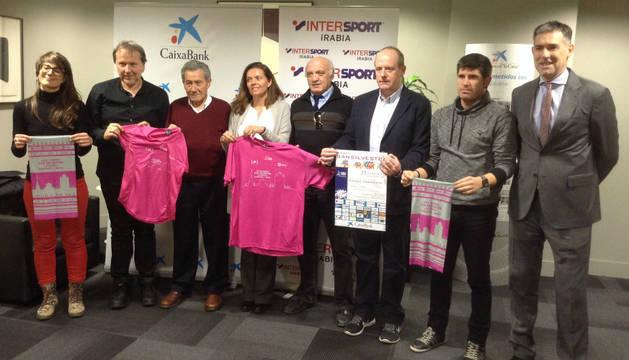 Presentación de la San Silvestre de Pamplona 2015.