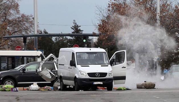 Explosión controlada en el aeropuerto de Sofía.