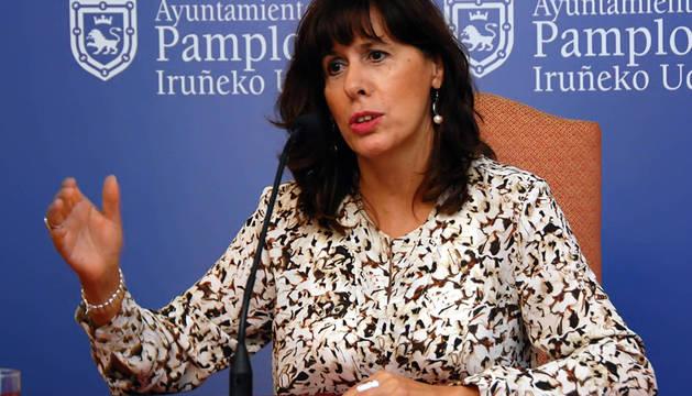 Maite Esporrín, portavoz del PSN en Pamplona.
