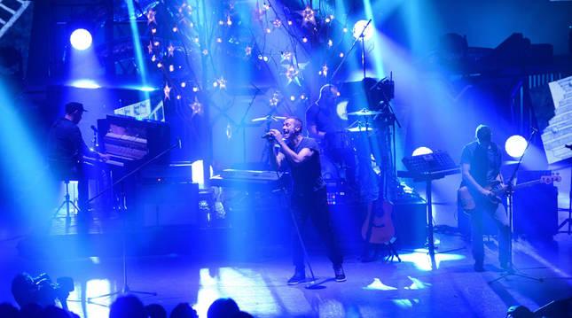 Un concierto de la banda Coldplay.