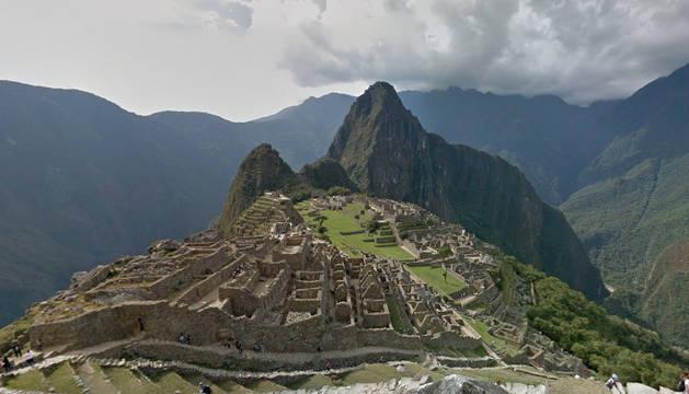 La ciudadela de Machu Picchu desde Google Street View.