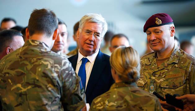 El Secretario de Estado de Defensa británico, Michael Fallon.
