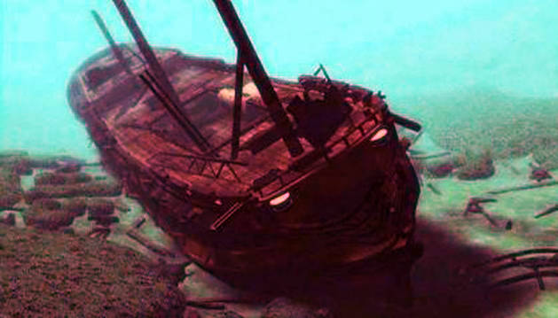 Imagen del San José, hundido en el Caribe.