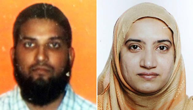 Los dos autores del tiroteo, Syed Farook y su esposa, Tashfeen Malik.